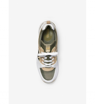 MICHAEL Michael Kors Georgie Canvas and Leather Trainer
