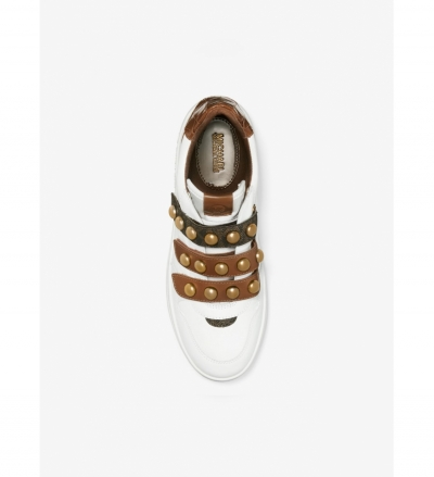 MICHAEL Michael Kors Gertie Studded Leather Sneaker
