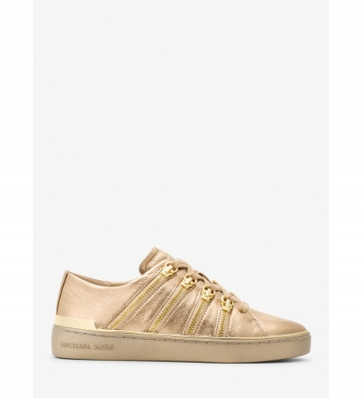 MICHAEL Michael Kors Chelsie Zipper-Trim Leather Sneaker