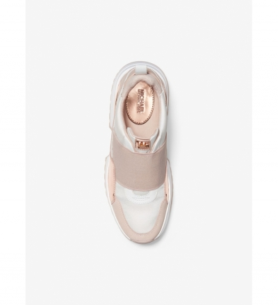 MICHAEL Michael Kors Cosmo Canvas and Calf Hair Slip-On Trainer