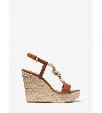 MICHAEL Michael Kors Holly Leather Wedge Sandal