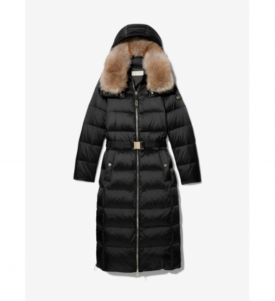 MICHAEL Michael Kors Quilted Nylon Belted Puffer Coat