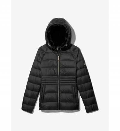 MICHAEL Michael Kors Fur Lined Quilted Nylon Puffer Jacket