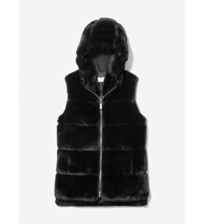 MICHAEL Michael Kors Faux Fur Hooded Vest