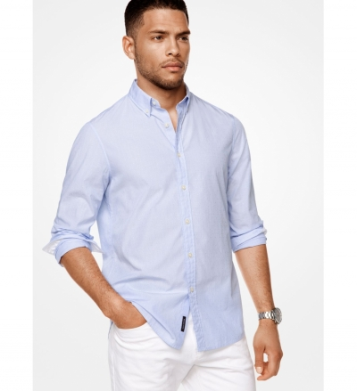 Michael Kors Mens Tailored/Classic-Fit Cotton Shirt