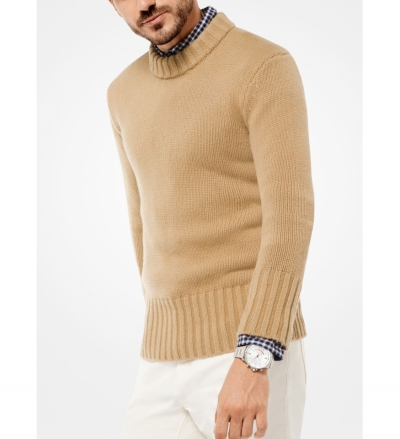 Michael Kors Mens Cashmere Ribbed Pullover