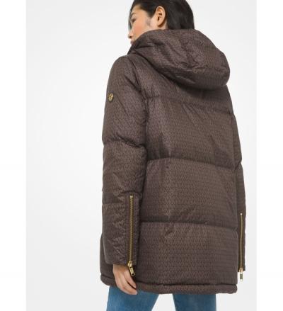 MICHAEL Michael Kors Mini Logo Ciré Reversible Puffer Jacket