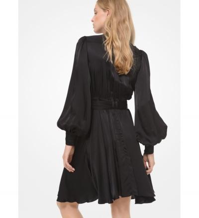 MICHAEL Michael Kors Hammered Satin Belted Utility Dress