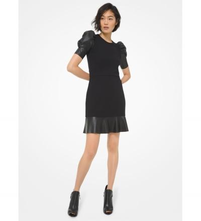 MICHAEL Michael Kors Ponte Puff-Sleeve Dress