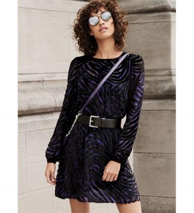 MICHAEL Michael Kors Tiger Velvet Jacquard Dress