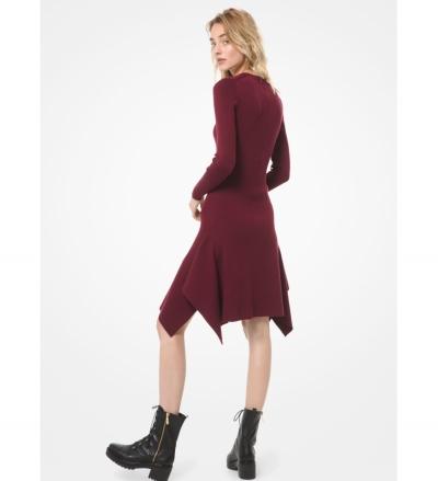 MICHAEL Michael Kors Wool-Blend Handkerchief Dress
