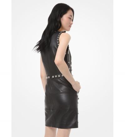 MICHAEL Michael Kors Dome Studded Leather Sheath Dress