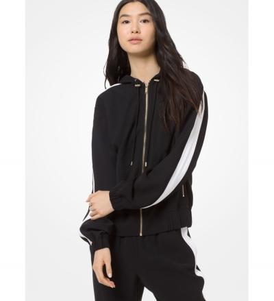 MICHAEL Michael Kors Contrast Stripe Hooded Jacket