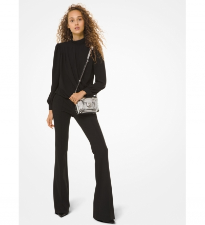 MICHAEL Michael Kors Stretch-Twill Flared Pants