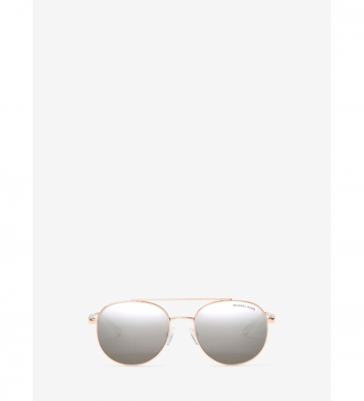 Michael Kors Lon Rounded Aviator Sunglasses