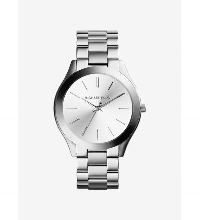 Michael Kors Slim Runway Silver-Tone Watch