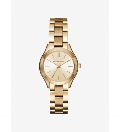 Michael Kors Mini Slim Runway Gold-Tone Watch