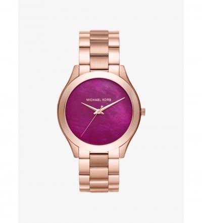 Michael Kors Slim Runway Rose Gold-Tone Watch