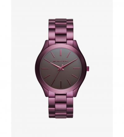 Michael Kors Slim Runway Plum-Tone Watch