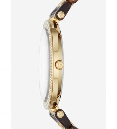Michael Kors Darci Pavé Gold-Tone And Acetate Watch