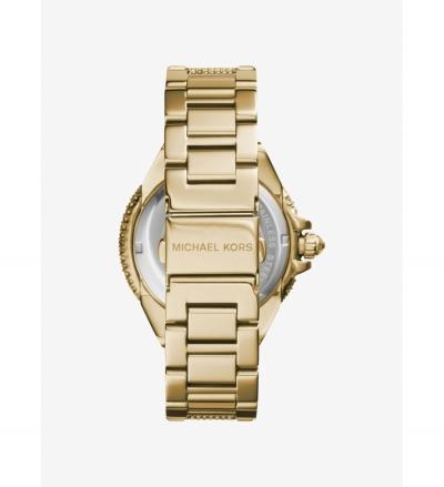 Michael Kors Camille Pavé Gold-Tone Watch