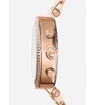 Michael Kors Parker Rose Gold-Tone Blush Acetate Watch
