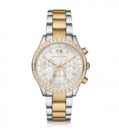 Michael Kors  Brinkley Baguette Two-Tone Watch