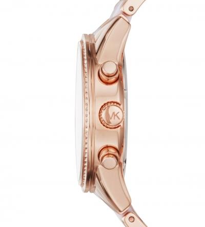 Michael Kors Ritz Pavé Rose Gold-Tone And Acetate Watch