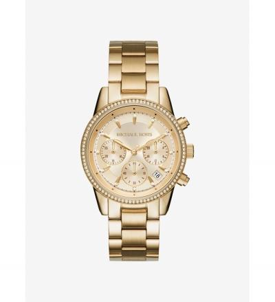 Michael Kors Ritz Gold-Tone Watch