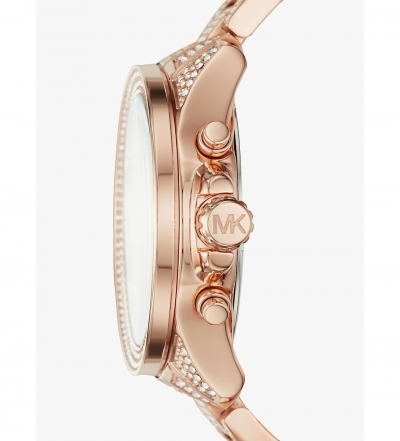 Michael Kors Wren Pavé Rose Gold-Tone Watch