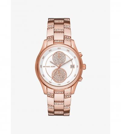 Michael Kors Briar Pavé Rose Gold-Tone Watch