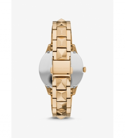 Michael Kors Runway Mercer Gold-Tone and Pearl Watch
