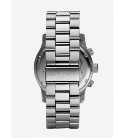 Michael Kors Runway Oversized Silver-Tone Stainless Steel Watch