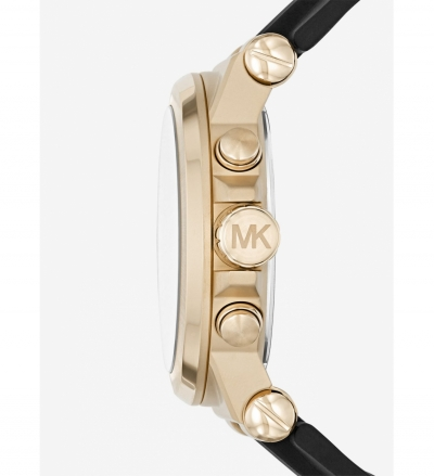 Michael Kors Dylan Gold-Tone And Silicone Watch
