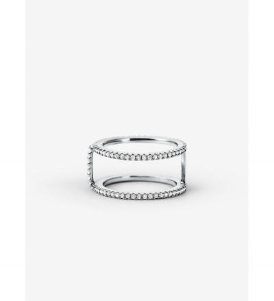 Michael Kors Precious Metal-Plated Sterling Silver Pavé Ring Jacket