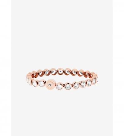 Michael Kors Crystal Rose Gold-Tone Tennis Bracelet