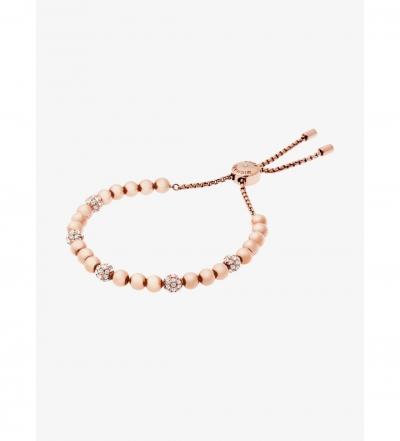Michael Kors Rose Gold-Tone Slider Bracelet
