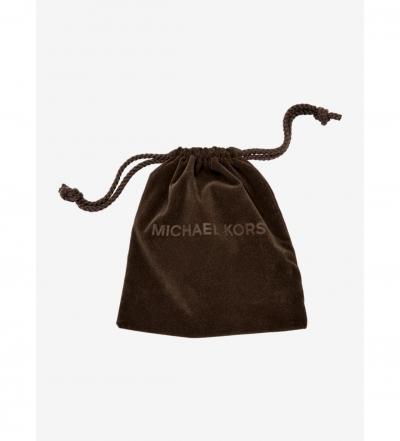 Michael Kors Pavé Gold-Tone Pendant Necklace