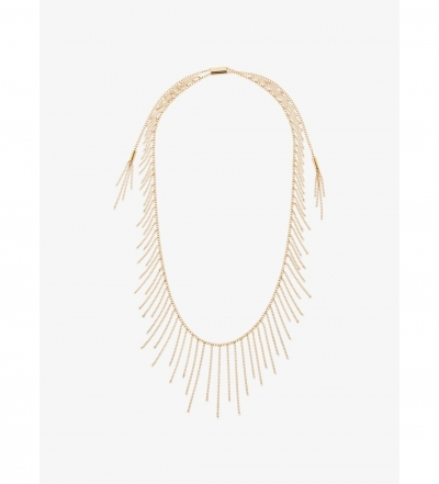 Michael Kors Gold-Tone Chain Statement Necklace