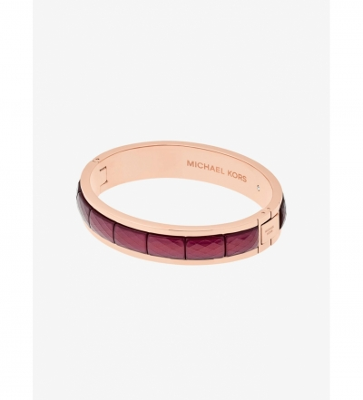 Michael Kors Rose Gold-Tone Faceted Bracelet