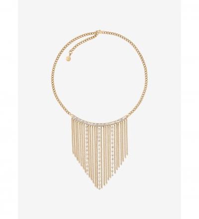 Michael Kors Gold-Tone Baguette Fringe Necklace