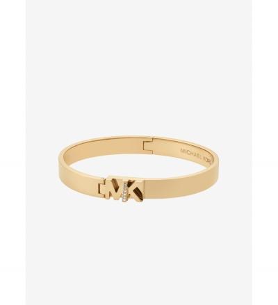 Michael Kors Pavé Gold-Tone Logo Bangle