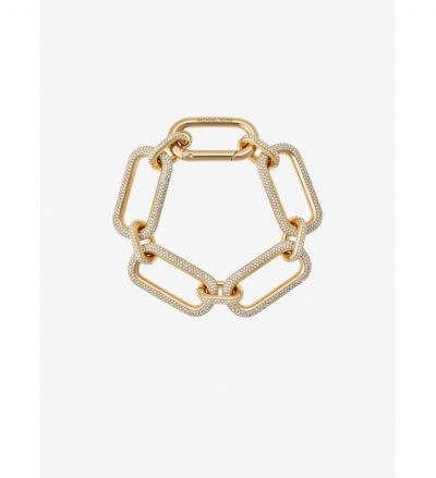 Michael Kors Pavé Gold-Tone Link Bracelet