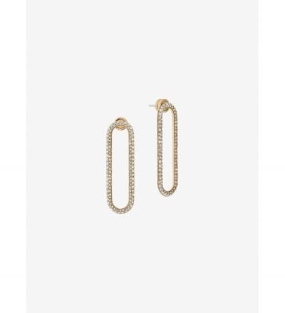Michael Kors Gold-Tone  Pavé Gold-Tone Drop Earrings