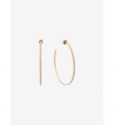 Michael Kors Pavé Gold-Tone Hoop Earrings