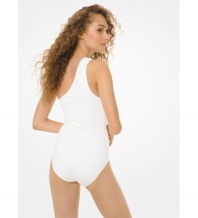 MICHAEL Michael Kors One-Shoulder Swimsuit