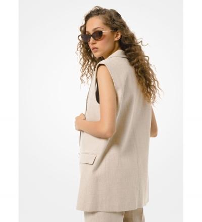 MICHAEL Michael Kors Washed Linen Boyfriend Vest