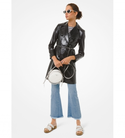 MICHAEL Michael Kors Patent Leather Trench Coat