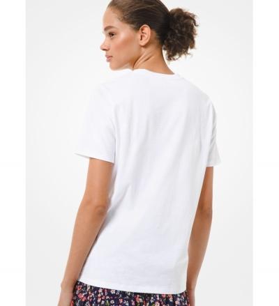 MICHAEL Michael Kors Floral Logo Cotton-Jersey T-Shirt