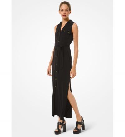 MICHAEL Michael Kors Matte Jersey Belted Dress